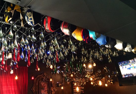 Elvira's : An amazing colorful display of glass, tin and crystal...everywhere you look.