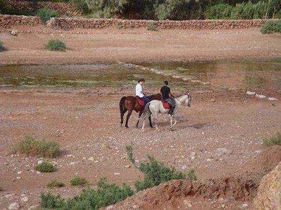 Riding at Ait ben Haddou
