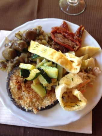 Ristorante Pizzeria VILLA Kephos: Plat du buffet
