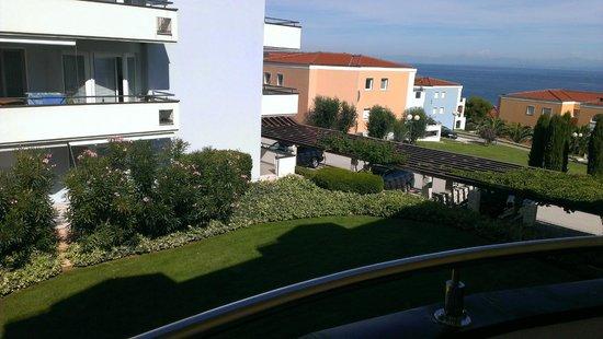Rezidecija Skiper: Balkonblick zum Meer