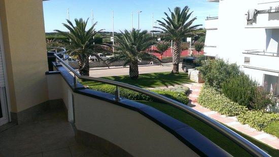 Rezidecija Skiper: Balkonblick zur Straße