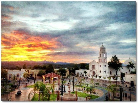 La Posada del Rio Sonora: Sunset Scene from Balcony