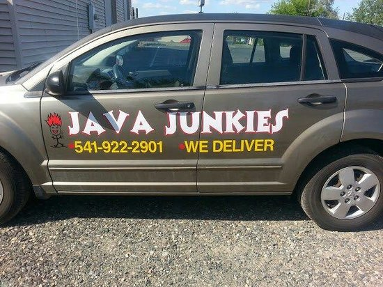 Java Junkies Delivery Car!!! - Picture of Java Junkies, Umatilla