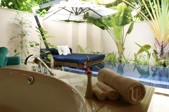 Huvafen Fushi : Private courtyard