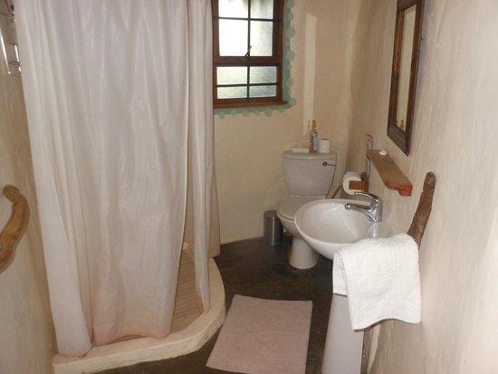 Chrislin African Lodge : basic bathroom
