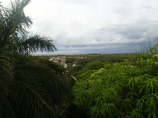 Nightland Cabins at JadeSeahorse: View from the top balcony, storms at sea