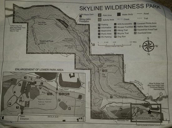 Skyline Wilderness Park : Map...very helpful (even shows inclines)