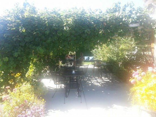 White House Cafe: patio in late summer