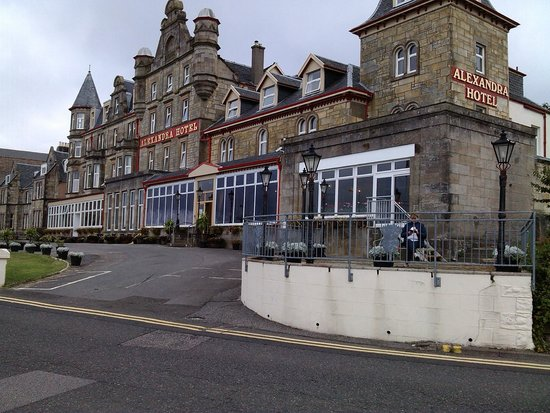 The Alexandra Hotel: Front of Hotel.