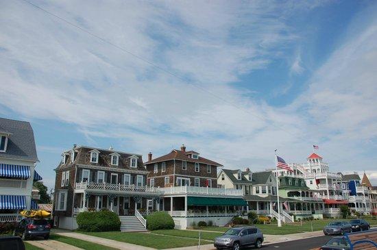 Cape May, NJ: Casas victorianas cerca de la playa