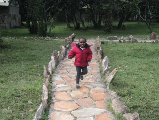 Ol-moran Tented Camp: Compound clean and safe forr children to run about