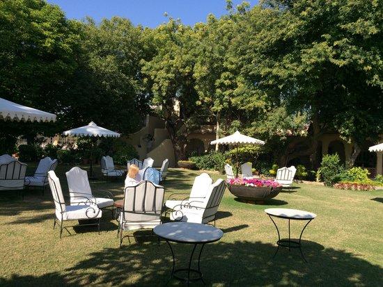 Rohet Garh : The hotel courtyard