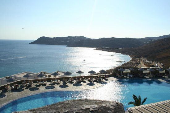 Royal Myconian Resort & Thalasso Spa Center: View from our balcony