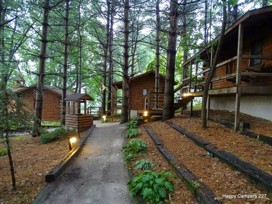 Shipshewana Campground & Amish Log Cabin Lodging: cabins