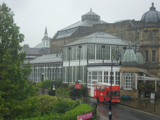 The Old Hall Hotel: View of the Pavilion from our hotel room
