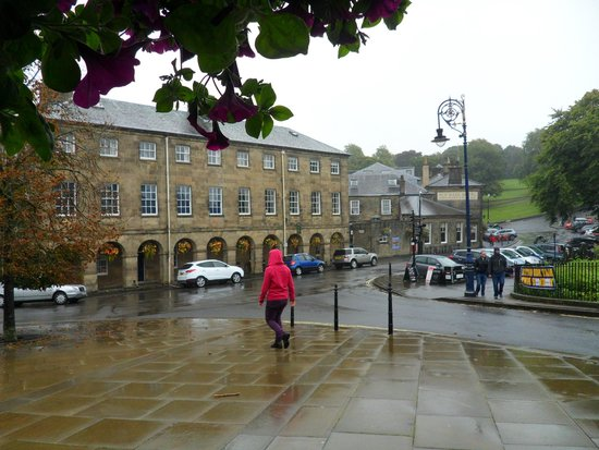The Old Hall Hotel: Building on the far right is the back of the hotel