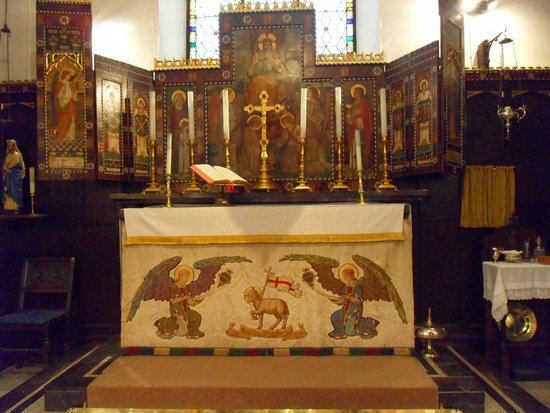 Altar at St Anne's - the oldest building in Buxton