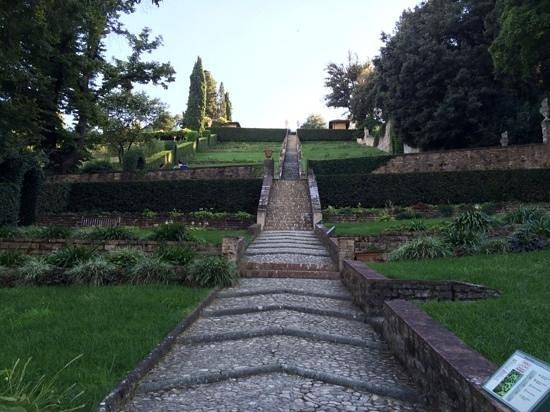 Giardino Bardini: terraced garden path