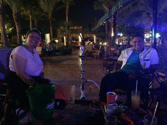 Hilton Sharm El Sheikh Fayrouz Resort : enjoyimg after dinner drink