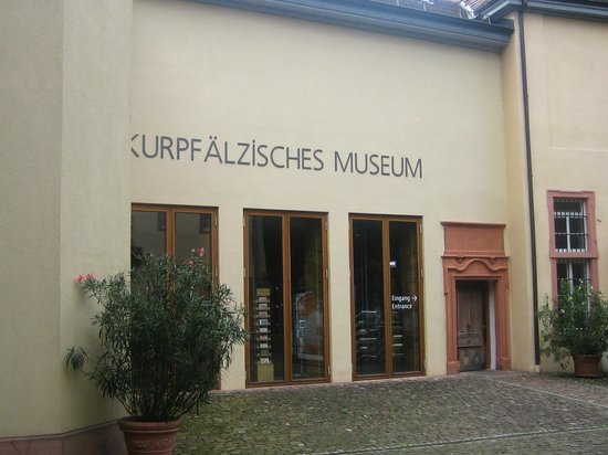 Kurpfälzisches Museum: The Kurpfalz Museum is to the left as you enter the museum's area.  The restaurant is on the rig