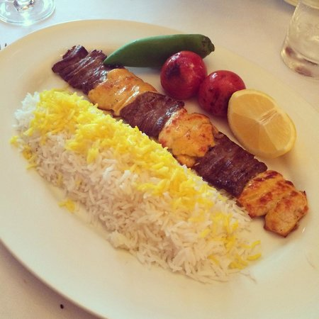 Lovely main course at Farsi Restaurant Moscow