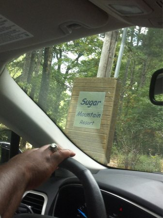 Cabins at Sugar Mountain: Sugar Mountain sign