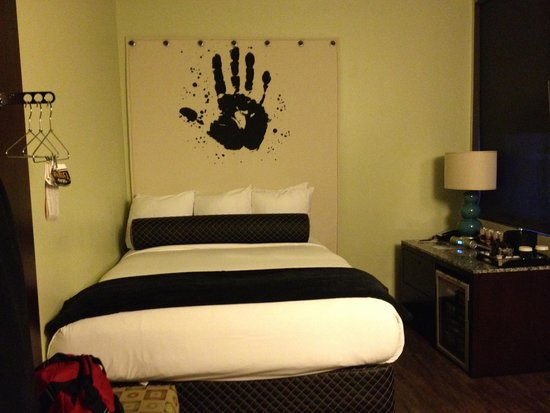 Acme Hotel Company bedroom - what a swanky bed!