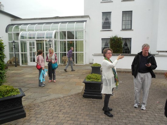 Barberstown Castle: The glassed area is a new entry.