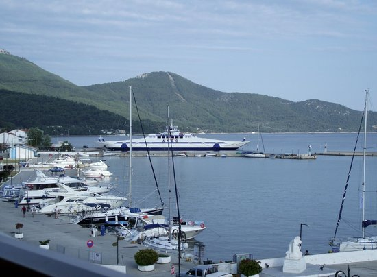 Akti Hotel: View of the Harbour from our Balcony