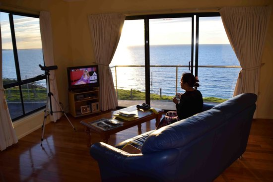 Clifftop Accommodation: View from the room