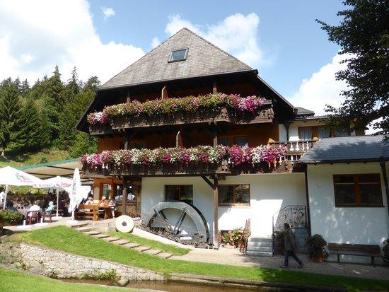 blumengeschmüktes Gasthaus Tannenmühle