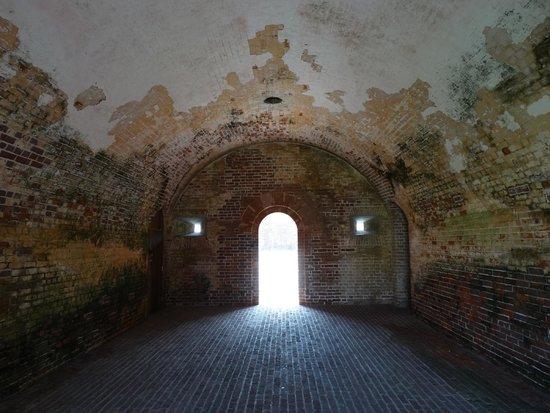 Fort Macon : Inside the fort