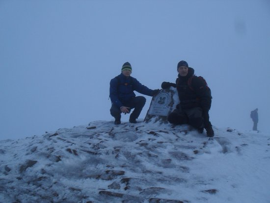 Pen-y-Fan: at the top