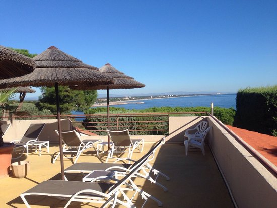 Hôtel Les Mouettes  : View from our sun beds