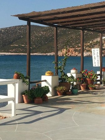 Pension Flora: view from our room Platis Yialos bay