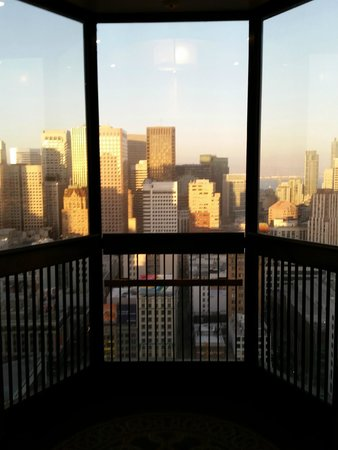 The Westin St. Francis San Francisco on Union Square: View from inside the elevator