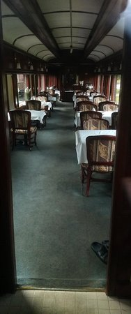 Lake Louise Station Restaurant: Restored interior or CPR dining car - for special occasion