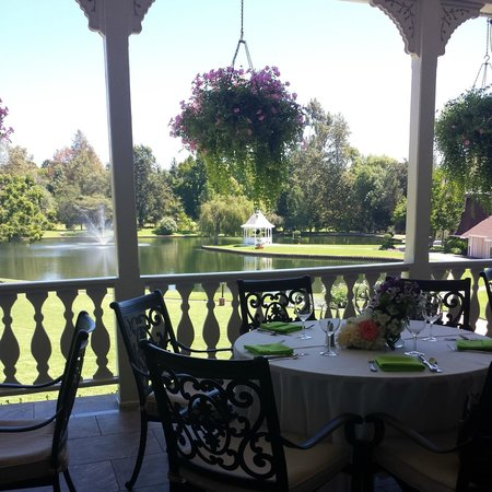 Grand Tradition Estate and Gardens: View as you walk out to patio dining.