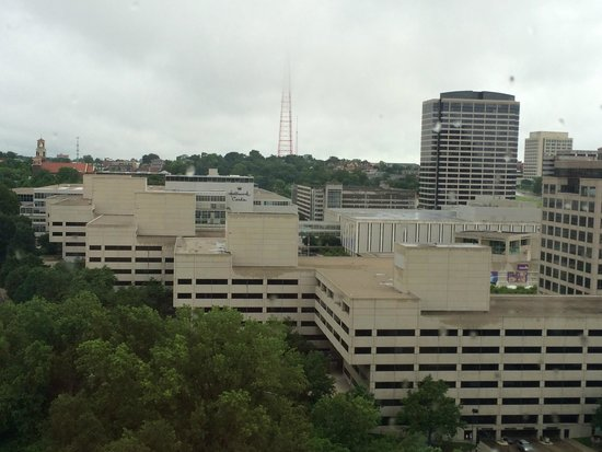view from room picture of sheraton kansas city hotel at. Black Bedroom Furniture Sets. Home Design Ideas