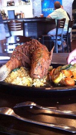 Riptides Raw Bar & Grill: Caribbean stuffed grouper