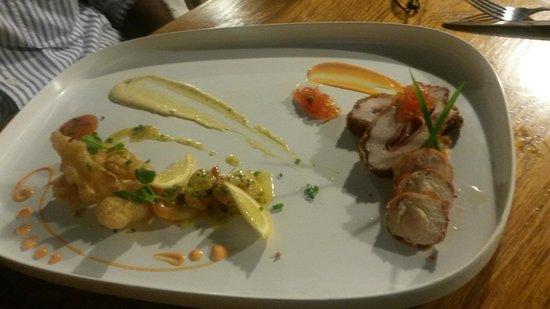 Oasis Restaurant: Tempura & Bacon Wrapped Chicken