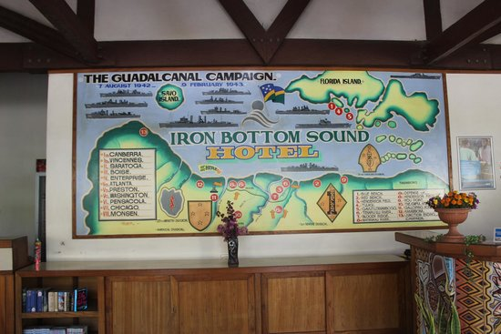 And Iron bottom sound hotel for that