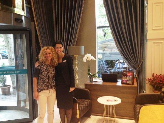 Pierre Loti Hotel: reception with Ms Esin Duman