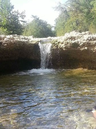 Crider's on the Frio: water fall at Criders on the Frio