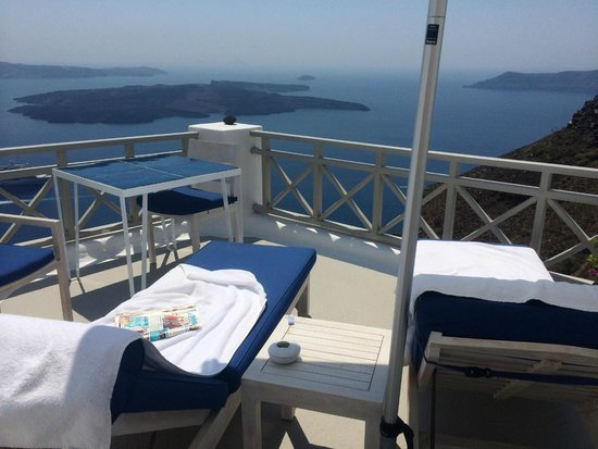 Iconic Santorini, a boutique cave hotel: View from our room