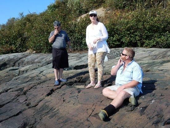 Sunrise Canoe and Kayak: Rob telling us the history of the bay