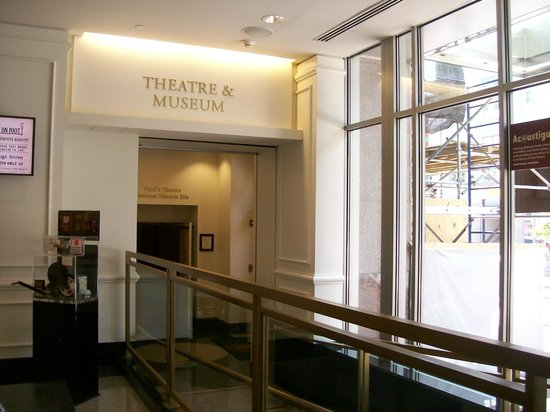 Ford's Theatre: The main theater lobby, and ticket booth area.