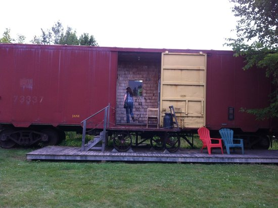 Train Station Inn: Our room for the night. Boxcar Jane