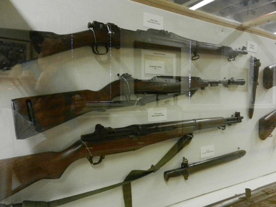 New Mexico National Guard Museum: Part of the firearm display.