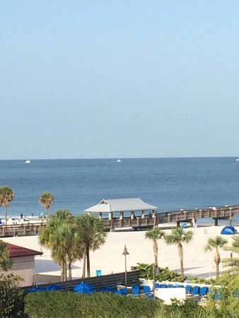 Hilton Clearwater Beach: View from our balcony.